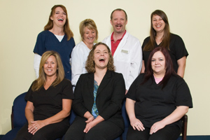South County Eye Care Staff with Dr. Becker