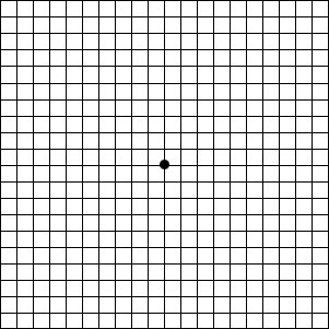 Amsler Grid, check for Macular Degeneration